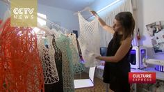 Fashion designer clothes by 3D printer