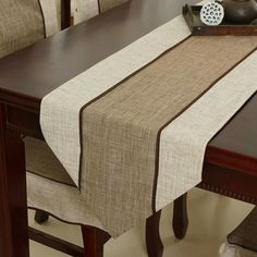 Modern Minimalist Style Retro Cloth Table Runner New Chinese Classic Coffee Table Flag Solid Table Mat Coffee Table Runner, Farmhouse Table Runners, Modern Table Runners, Farmhouse Kitchen Tables, Burlap Table Runners, Coffee Tables, Kitchen Dining, Dining Table, Rideaux Design