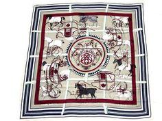 e93ff6e94e22 Authentic Hermes Cotton Silk Scarf Imprimeur Fou RARE   From a collection  of rare vintage scarves