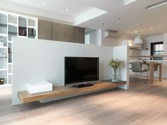 tv stand- love the minimalism.