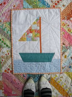 Sailboat quilt from comfortstitching by Aneela Hoey