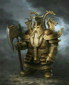 Male Dwarf Fighter Warrior - Pathfinder PFRPG DND D&D d20 fantasy