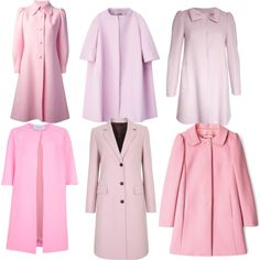Pink Coats by beckyc1923, via Polyvore