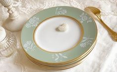 Mint Gold, Plates, Tableware, Licence Plates, Dishes, Dinnerware, Griddles, Tablewares, Dish