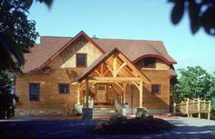 Arts and Crafts style log home
