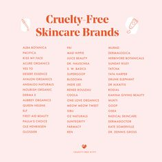Cruelty Free Skin Care Brands, Cruelty Free Cosmetics Brands, Cruelty Free Makeup Products, Cruelty Free Skin Care Drugstore, Makeup Brands, Beauty Products, Cruelty Free Kitty, Kiss My Face, First Aid Beauty