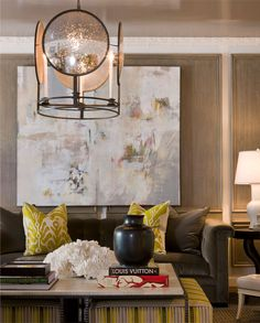 The McLain Wiesand Lighthouse Chandelier featured in Dan Proctor's Decorator Showhouse room