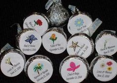 Tropical Beach Luau Pool Party Flip Flop ~ Kiss Candy Wrappers Labels Favors
