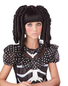 Baby Doll Black Wig with Bangs *I THINK THIS IS MY FAV :)