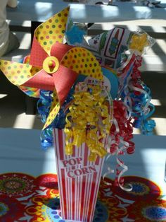 centerpiece for circus party