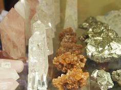 Crystals out of their habitat