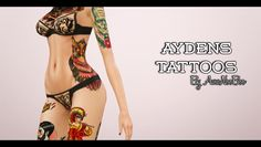 Emma's Simposium Sims 3 Cemetery: RIP 000301 - Ayden's Tattoos by Awwnooboo - Donate...