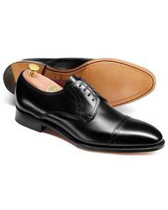 a0c0e5d15e86 Black Hallworthy calf leather toe cap brogue Derby shoes Buy Mens Shoes