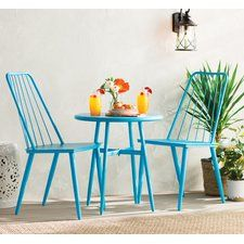 Bistro Set, 3 Piece Bistro Dining Set, Simple Yet Elegant, Durable, Perfect Addition For Any Outdoor Living - Blue >>> Wonderful of you to have dropped by to view our image. (This is an affiliate link) Outdoor Rooms, Outdoor Decor, Outdoor Life, Outdoor Ideas, Outdoor Living, 3 Piece Bistro Set, Patio Bar Set, Patio Furniture Sets, Furniture Ideas