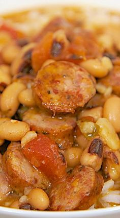 Black Eyed Pea and Smoked Sausage Soup