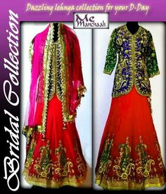 Beautifully embroidered lehnga.. specially designed for your wedding day by manchaali