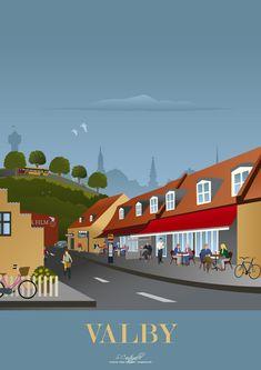 Poster Colour, Color Posters, Travel Illustration, Vintage Travel Posters, All Over The World, Copenhagen, Denmark, Uganda, Europe