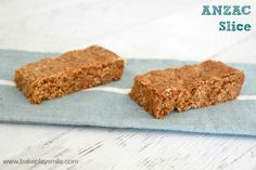 If you love ANZAC biscuits, you're going to love these oaty ANZAC slices made in the Thermomix. #thermomix
