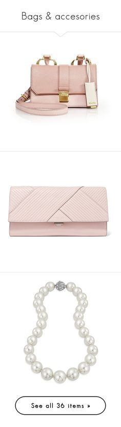 """Bags & accesories"" by ela79 ❤ liked on Polyvore featuring bags, handbags, shoulder bags, pink shoulder bag, crossbody purses, crossbody shoulder bag, handbags crossbody, pink leather handbags, clutches and purses"