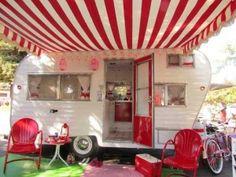 retro caravan luifels