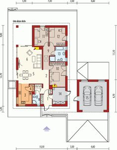 Picture of Stunning Modern House Design Modern Architecture House, Modern House Design, Architecture Design, Single Storey House Plans, Small House Plans, Farm Plans, Three Bedroom House, Modern Bungalow, Facade House