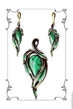 New Art Nouveau Jewelry Jewerly Ideas Art Nouveau Jewelry, Jewelry Art, Jewelry Design, Fashion Jewelry, Baby Jewelry, Disney Jewelry, Jewelry Armoire, Malachite Jewelry, Magical Jewelry