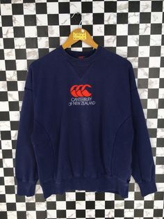 Vintage 90's CANTERBURY Rugby Sweater Large Vintage Canterbury Of New Zealand All Blacks Rugby Blue Sweatshirt Jumper Size L by JunkDeluxeRetro on Etsy