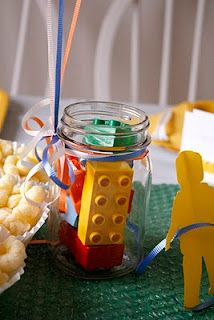 Lego party balloon weight idea #lego party idea #lego centerpiece