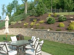 Pittsburgh retaining walls installation by PGHSW uses retaining wall block like Omni Stone and Versa-lok for it's retaining wall construction. Retaining Wall Construction, Privacy Walls, Wall Installation, Pittsburgh Pa, Outdoor Living, Outdoor Decor, Landscape Design, Landscaping, Patio