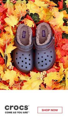 9e43af7b0c4 Stay cozy this fall with our fuzz lined collection from Crocs. Make your  feet happy