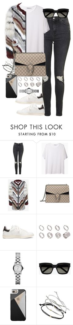 """Untitled #3759"" by lily-tubman ❤ liked on Polyvore featuring Topshop, T By Alexander Wang, Elizabeth and James, Gucci, Étoile Isabel Marant, ASOS, Marc by Marc Jacobs, Yves Saint Laurent and Casetify"