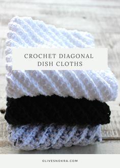 Crochet Diagonal Dish Cloths