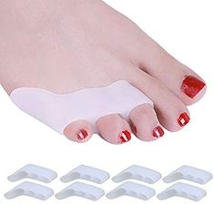 Buy 8 Pack Pinky Toe Straightener, Little Toe Separator for Tailors Bunion and Overlapping Toe, Bunionette Corrector for Women and Men Tailors Bunion, Bunion Pads, Bunion Relief, Hammer Toe, Outdoor Store, Drawstring Pouch, Straightener, Men Health, Personal Care