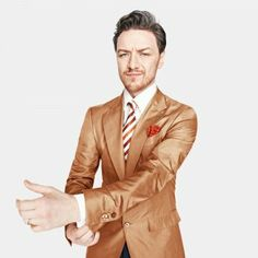 James McAvoy - I don't know which I adore more -- the bitchin' jacket or that face...
