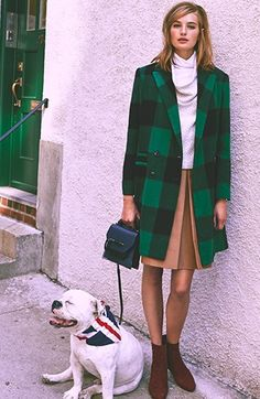 Green plaid jackets... How wearable it with black skinny jeans and black turtleneck tshirt