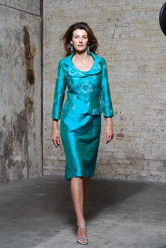 50% Off... Paule Vasseur Dress & Jacket, Style: BE-CAM-RIZ; Colour: 435 Emeraude. (Size 12, & size 20)