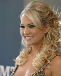 when you look for wedding hair, Carrie Underwood is the most frequently pictured celebrity @Tara Lynn