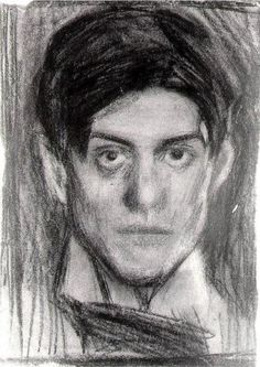 self-portrait, charcoal on paper, 22.5 x 16.5 cm | Pablo Picasso, completed 1900 | Museo Picasso, Barcelona