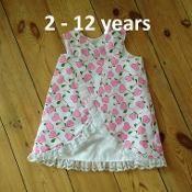 Lace Edged Crossover A-line Dress 2-12yr - via @Craftsy