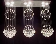 """$330, H31"""" W39"""" L.10"""", G93-MD/9342/3+3+3 Gallery Modern / Contemporary RAINDROP CRYSTAL FIXTURE"""