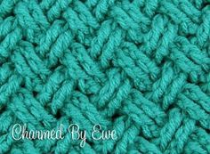 Celtic Weave crochet stitch.  Link to tutorial on Charmed by Ewe for working in round or rows.