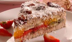 Nebojte sa zhrešiť: Zdravá ovocná torta | DobreJedlo.sk Pavlova, Sweet Recipes, Banana Bread, Sushi, Sandwiches, Cheesecake, Clean Eating, Food And Drink, Health Fitness