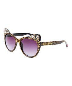 Leopard Kitten Ears Sunglasses by Betsey Johnson #zulily #zulilyfinds