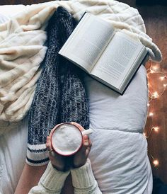 Imagine book, coffee, and cozy