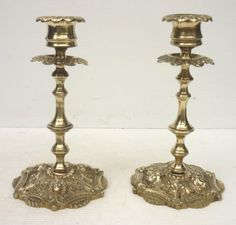 Paire de Jolis BOUGEOIRS Anciens Anthropomorphes en Bronze du XIXème siècle / EBAY / Pair of antique bronze candlesticks from the 19th century