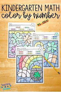 Patrick's Day Color by Number Kindergarten Math Worksheets Numbers Kindergarten, Kindergarten Math Worksheets, Kindergarten Teachers, Teacher Resources, Color By Number Printable, Skill Tools, Printable Worksheets, Printables, Hidden Pictures