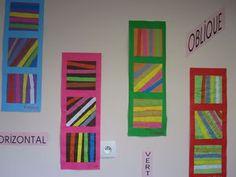 verticales horizontales obliques