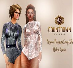 Free Beyonce Bodysuit With Appliers The bodysuits are a free group gift. They include appliers for: Maitreya, Slink, Belleza, TMP, Brazilia Doll, WoW...