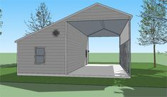 Plans for RV shelter with garage. Rv Garage, Garage House Plans, Carport Plans, Shed Plans, Carport Ideas, Carport With Storage, Built In Storage, Rv Shelter, Generator Shed
