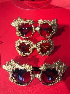 011fabc101 Some Mercura NYC golden girl baroque sunglasses at Surreal Eyewear NYC